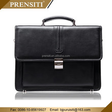 PRENSITI High-end Mens Small Business Briefcase Bag Knitting Leather Men Handbag