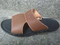 Nem de estilo playa de los hombres de ocio sandalias sandalias de cuero genuino flip- flops no- slip zapatillas de goma