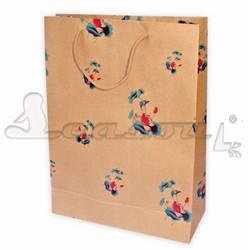 Cheap 100g brown kraft advertising paper bag