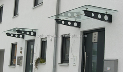 outdoor metal door canopy,glass door canopy