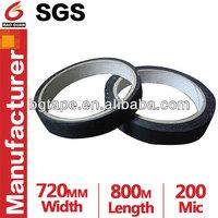 black fabric cotton insulation tape