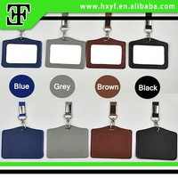 Fashion Colorful pu genuine cheap cowhide leather staff student ID card holder