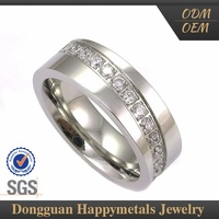 Top Class Stainless Steel Customized Logo Nscd Diamond Ring