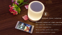 Car out wireless bluetooth speakers subwoofer speakers intelligent LED lighting touch switch