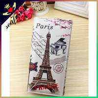 Wholesale bulk stock Eeiffel Tower design pu leather women purse,ladies wallets