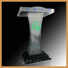 cheap hot delling clear Acrylic Pulpit/Plexiglass Podium/Acrylic Lectern
