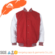 Red and White Custom Plain Varsity Jacket Wholesale