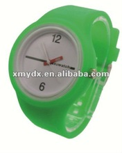 2012 fashion round silicone jelly candy wrist watch