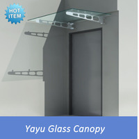 Glass Door Canopy with Stainless Steel Brackets
