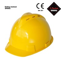 Industrial safety helmet v-guard with 6 cooling vents