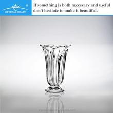 rose glass vase, wholesale pedestal glass vase for centerpiece
