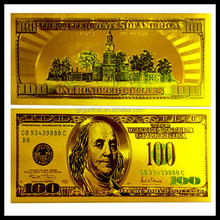 24k gold foil US currency banknotes, Golden craft gold plated gift banknote business gift
