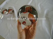 clear transparent Acrylic soild ball with sportsman LeBron James inside