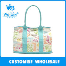 Foldable Reusable Canvas Printing Flower Shopping Bags