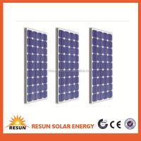 27V 130W mono crystalline Silicon PV solar panel price