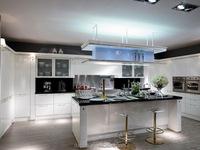 High glossy metal kitchen sink base cabinet
