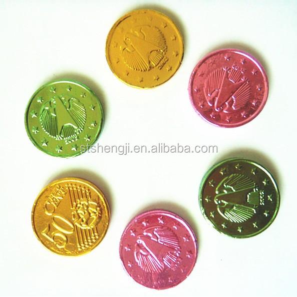 Ouro de chocolate coin doces
