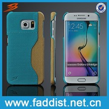 Back cover case for galaxy s6 edge,good hand feeling pu leather phone case