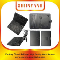 "Black Universal PU Leather Folio Stand Case Cover Tablet keyboard case for 7"" 8"" 9"" 10"" tablet"