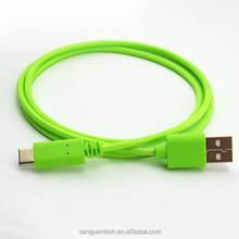Bulk super USB 3.1 speed type c with nylon sleeve for computer and tablet pc