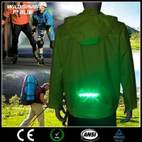 woman fluorescent led safety jacket