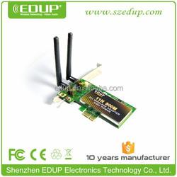 EDUP Hot sale 300Mbps PCI/PCI-E Wireless-N Network Card