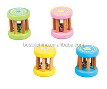Sound Colorful Wooden toy EN71 Best of China Baby Rattle