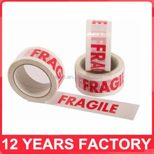 export to uk printed 48mm*66m fragile packing tape
