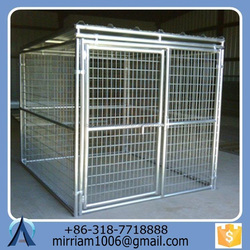Hot dipped galvanized powder coating large outdoor pet house/dog kennels
