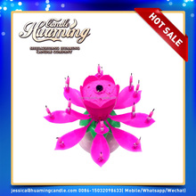 huaming candle offer flower rotating cake candle