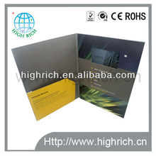 4.3 inch lcd video brochure with leaflet pocket inside