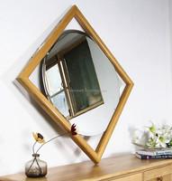 wooden frame mirror oak bathroom mirror wall mirror