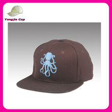 high quality octopus- embroidered snapback caps hats in brown