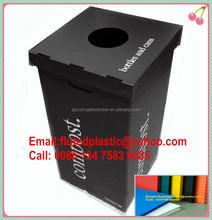 Foldable corrugated plastic coroplast recycle bin/corflute waste bin/Correx trash bin
