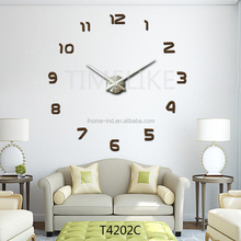 home decorating ideas big wall clock 3d wall sticker clock