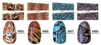 Новый 4 листы и установка Тигр и змея формы ногтей искусство наклейки и деколь советы красоты, 424