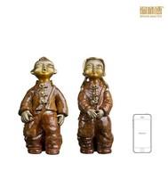 China supplier playing bronze children sculptures