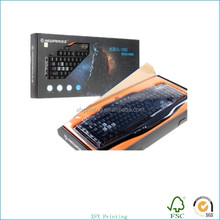 printed computer keyboard packaging corrugated paper boxes with glossy lamination