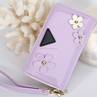 New arrival protective flip leather universal phone cover 5 inch for Samsung