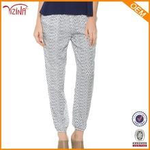 nuevo diseño de encargo de la mujer casual pantalones de zumba para prendas de vestir
