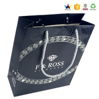 Recycle black paper gift bag ,Technical resources definition gift bag,Matt or glossy paper gift bag wholesale
