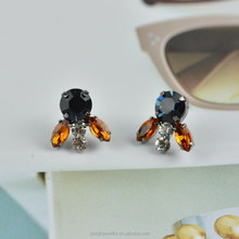 Hot selling colorful crystal fashion earring jewelry EAR0027