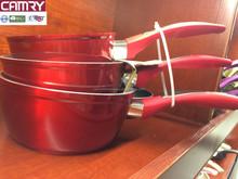 forged aluminum metallic paint ceramic coating sauce pan sets