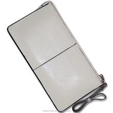 Original design online shopping full grain cowhide classic money clip slim leather wallet