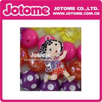 Dora Cartoon Girl Character Rhinestone Pendant Necklace