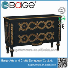 B-0006 French Style Bed Room Wooden Antique Reproduction luxury chest