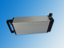 Customized rechargeable 48V 15Ah rear rack e-bike LifePO4 EV battery packs with Aluminium Case
