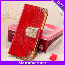 Hot Selling Design Crystal Wallet cell phone cases For iPhone 6 case with Factory Price for iPhone case