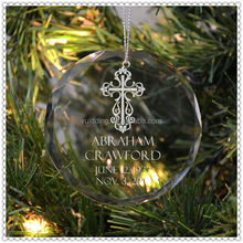 Fashion Etched Clear Circle Ornament For Decoration Supplies