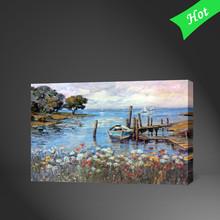 2015 Handmade Seaside Landscapes Oil Painting,Old Lantings,Handmade Paintings Landscapndscapes Paies
